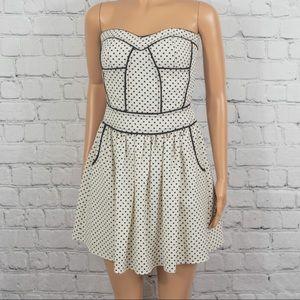 Sugarlips strapless polka dot mini dress